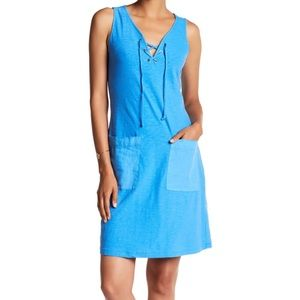 Tommy Bahama Arden Jersey Lace-Up Dress w/ Pockets